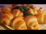 Круассаны с колбасой и сыром. Цыганка готовит. Хачапури с колбасой и сыром. Gipsy cuisine.