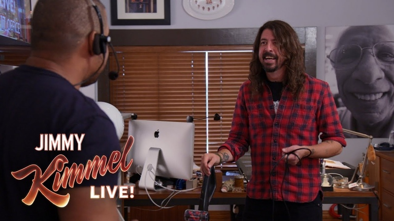 Guest Host Dave Grohl Takes Over Jimmy Kimmel's Office
