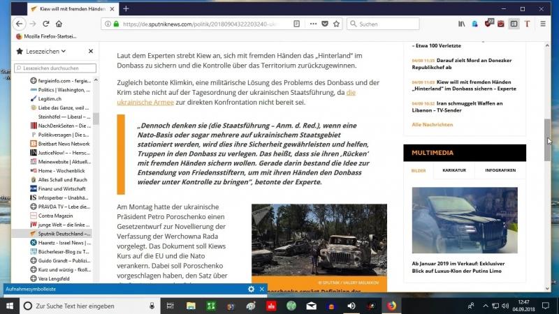 04.09.18 Kiew will mit fremden Händen-Hinterland- im Donbass sichern- Experte