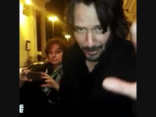 Our first video with Keanu in Rome. 2016. ДУ2.