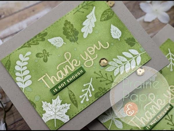 Emboss Resist Thank You Cards SSS November 2018 Card Kit