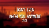 Netsky - I Dont Even Know You Anymore (Lyrics) ft. Bazzi, Lil Wayne