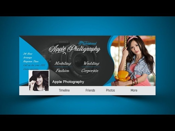 Design Photography Facebook Cover Photoshop Tutorial