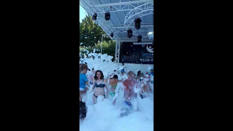 пенная вечеринка в Hydros