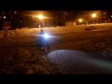 На велосипедах по льду Лебединого озера