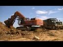 Kraneks EK 450 FS loading Kraz trucks part 3