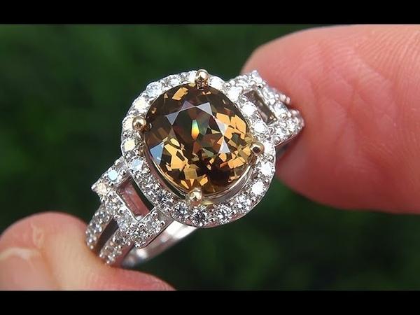 GIA Certified Natural Color Change FLASH Demantoid Garnet Diamond 14k Gold Ring - A141585