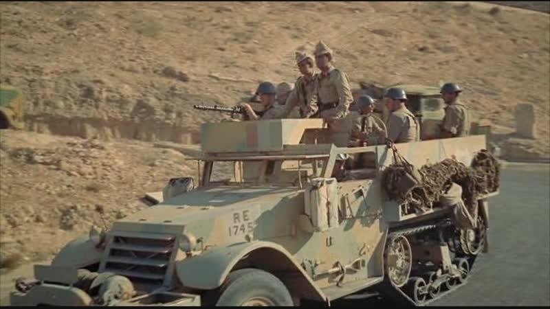 Чёрный шатёр (1956) Нападение арабов на колонну итальянцев в Северной Африке