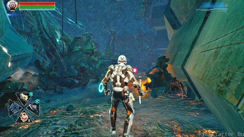 DOLMEN - First Alpha Gameplay Demo (Sci-Fi Action RPG 2019) Dark Souls in Space!