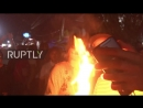 Daredevils hurl flaming FIREBALLS at each other in Nejapa Fireball festival