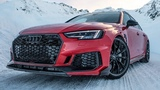 The NEW 2019 530HP AUDI RS4+ AVANT vs THE SNOW in Austrian Alps - Amazing winter road trip