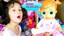 Моя Новая КУКЛА АЛИСА! Интерактивная КУКЛА ГОВОРИТ, открывает РОТ! Распаковка игрушки! АЛИС КАК МАМА