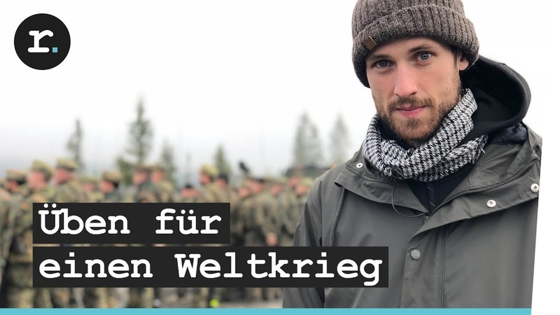NATO Großmanöver Soldaten der Bundeswehr trainieren Krieg