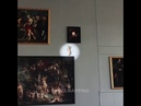 Cupid flying from Rubens' painting at Brussels airport - visitflanders skullmapping