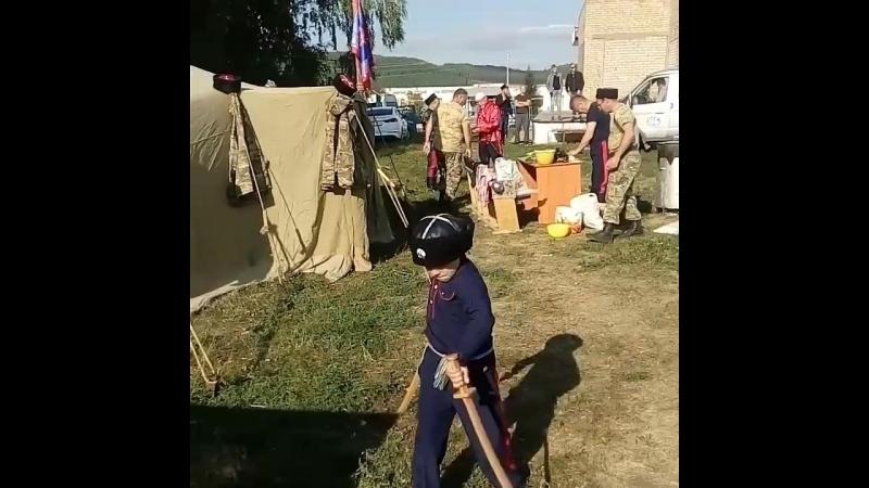Яблочный спас в Ал. Слободе с казаками.
