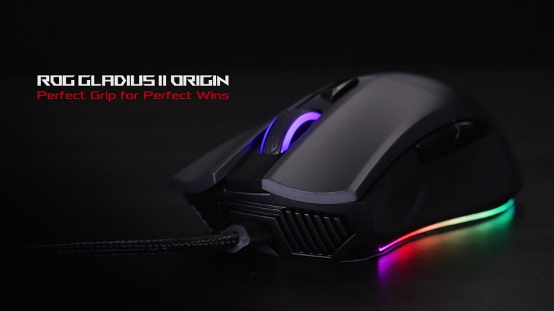 ROG Gladius II Origin - Ergonomic RGB Gaming Mouse Republic of Gamers