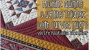 How-to Machine Quilt a Setting Triangle with Curved Rulers with Natalia Bonner