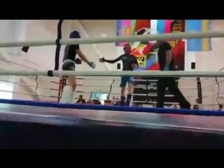 Финальный бой Катунов Михаил синий угол г.Анапа