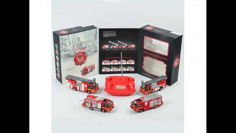 Обзор пожарной машинки на пульте City Hero 1 87 7911 5H