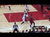 LeBron James hammers it home