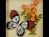 DIY how to make butterfly with quilling paper