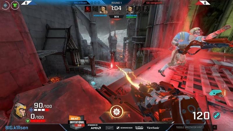 K1llsen vs. CG VengeurR (1/4 winners), Quake BEAT Invitational 2