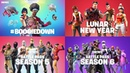ALL 40 FORTNITE BATTLE ROYALE TRAILERS..!! (Season 6 - Season 1)