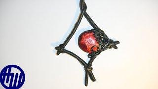 Делаем кулон с жареной кожей (№ 5). Leather pendant. Pendente di cuoio