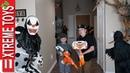 Assustador ataque de Halloween nerf confronto com todos os monstros loucos vs ethan e cole
