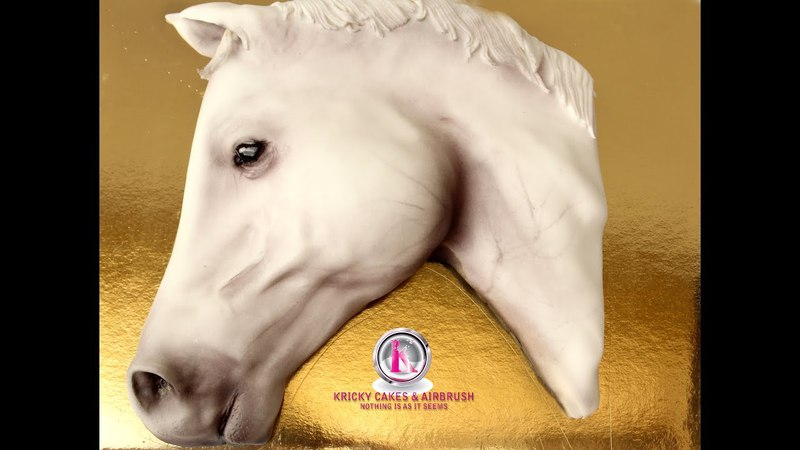 Как сделать торт Лошадь Kricky Cakes Decoration: Realistic Horse cake with airbrush 1080p