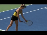 Maria Sharapova and Elina Svitolina Practice Ahead of the US Open