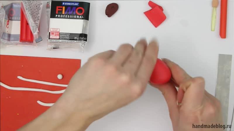 Мастер класс Дед Мороз из полимерной глины