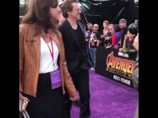 Роберт Дауни младший на мировой премьере фильма Война бесконечности.