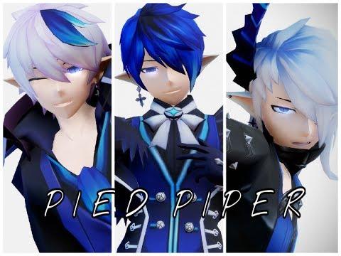 【MMD 엘소드    MMD Elsword】Pied Piper『Ciel - Dreadlord   Royal Guard   Demonio』
