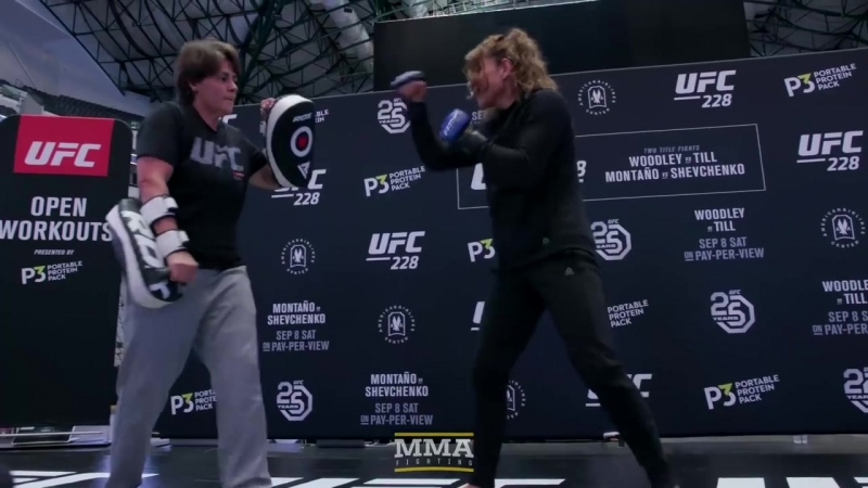 UFC 228 Nicco Montano Open Workout Highlights