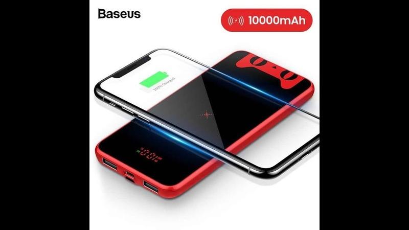 Baseus Tmall Cat 10000 мАч Qi беспроводной зарядное устройство