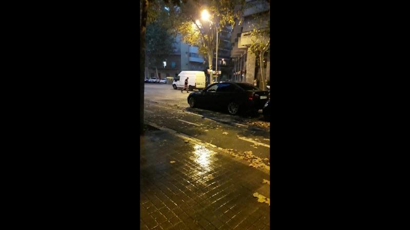 Барселона.Дождь.