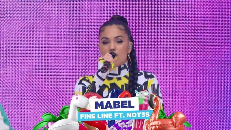 Mabel - 'Fine Line feat NOT3s' (live at Capital's Summertime Ball 2018)