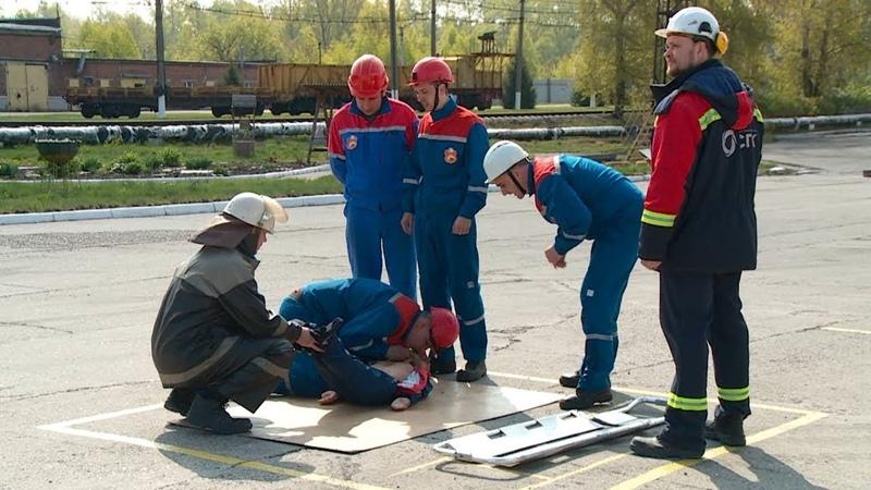 Соревнования добровольных пожарных формирований на ТЭЦ Бийска (21.05.19г., Бийское телевидение)
