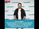 Sam Heughan plays a spy in the Spy Who Dumped Me Interview at Sirius XM
