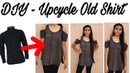 DIY -Upcycle/Convert old men's button down Shirt into super cute Cold shoulder sleeve Top