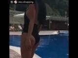Шикарные купальники с камнями HERVE LEGER