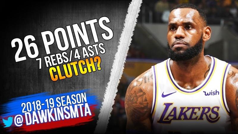 LeBron James Full Highlights 2018.11.11 Lakers vs Hawks - 26 Pts, 7 Rebs, CLUTCH?   FreeDawkins