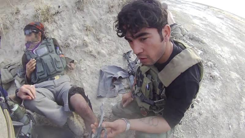 Personnel from US Army SF 3rd ID Afghani SOF in contact with Taliban 2013