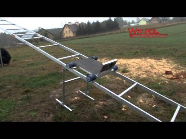 LADDER ROOF LIFT wyciąg budowlany winda do dachówki solarów