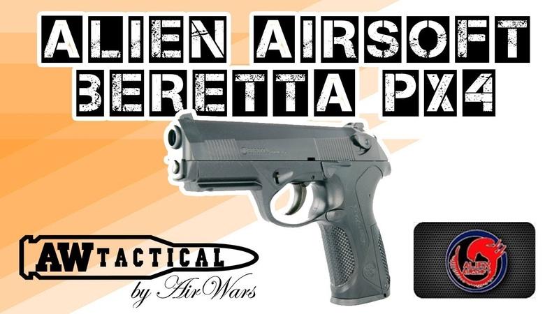 Страйкбольный пистолет ALIEN AIRSOFT BERETTA PX4 CO2 NBB AW5007