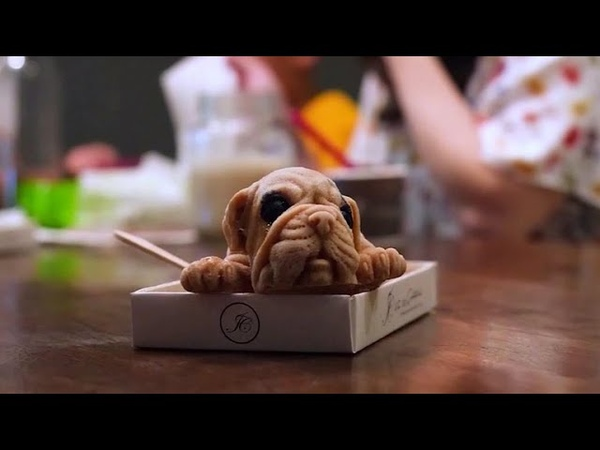Realistic puppy-shaped ice cream sold in Taiwan