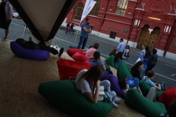 Пуфики возле Кремля — шикардосик.