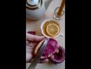 Крем-мед с черной смородиной