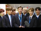 180924 BTS United Nations Assembly Interview @ UNICEF